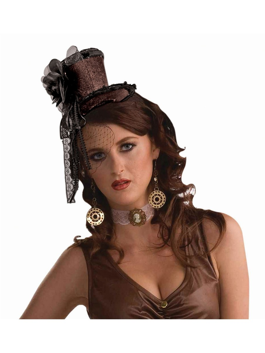 View larger image of Steampunk Headband Hat Brown Adult