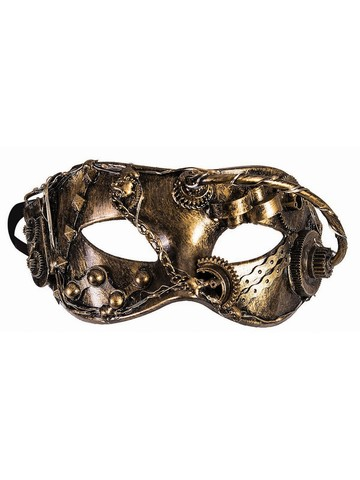 Gold Chain Wires Eye Mask Steampunk Mask