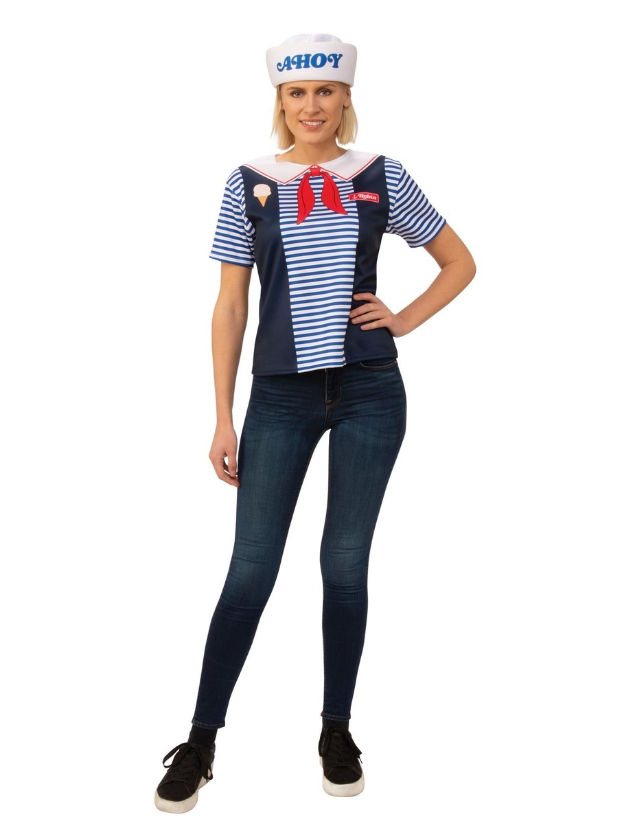 View larger image of Adult Stranger Things Robin Scoops Ahoy Uniform Costume