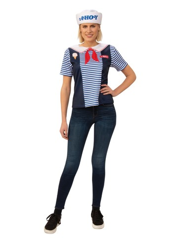 Adult Stranger Things Robin Scoops Ahoy Uniform Costume