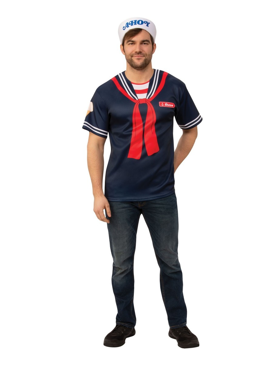View larger image of Adult Steve Scoops Ahoy Uniform Costume - Stranger Things