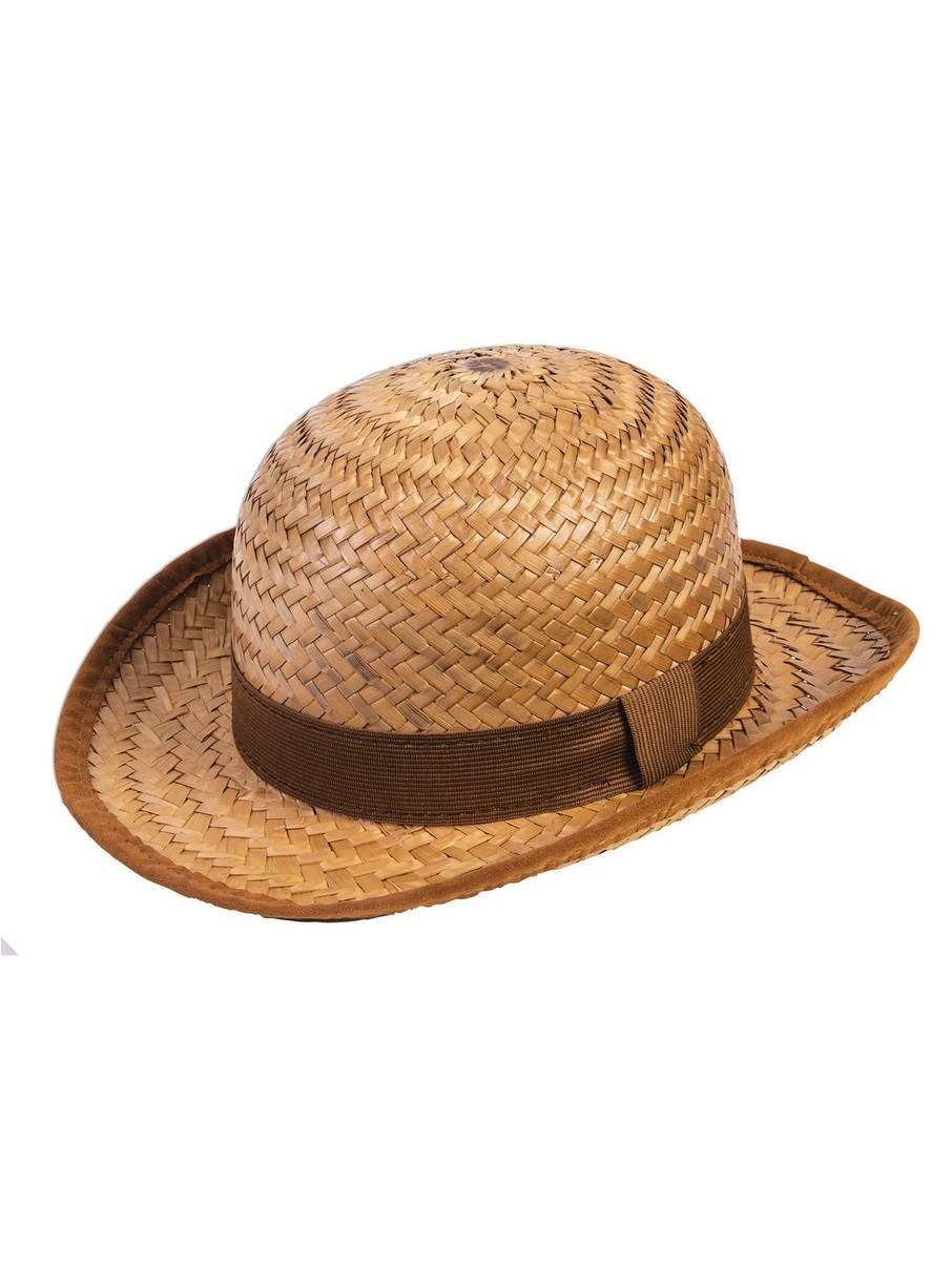 View larger image of Adult Straw Bowler Hat