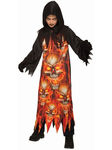 Sublimation - Child Fire Reaper Costume