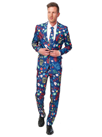 Suitmeister High Roller Men's Suit and Tie Set