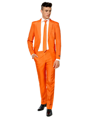 Suitmeister Sunset Orange Mens Suit and Tie Set