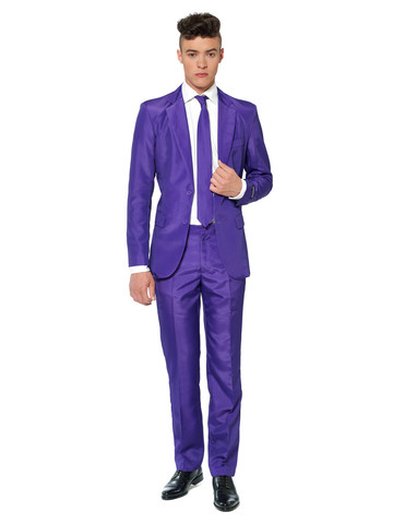 Suitmeister Dazzling Purple Mens Suit and Tie Set