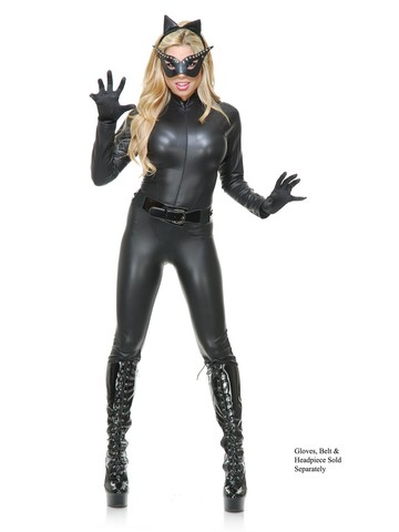 Womens Sultry Cat Suit & Mask