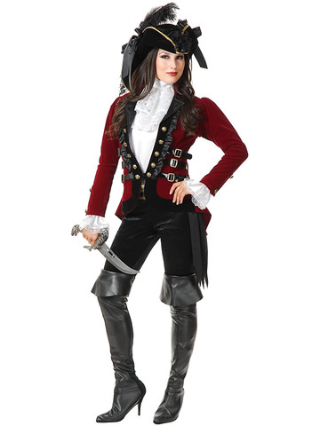 Women's Sultry Pirate Lady Jacket Set