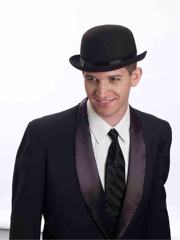 Traditional Black Bowler Hat