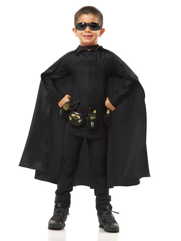 Unisex Superhero Black Cape for Kids