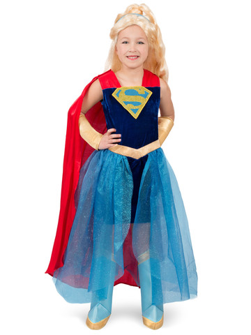 Girls Super Hero Premium Supergirl Formalwear