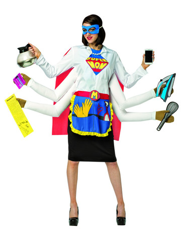 Super Mom Superhero Costume for Adults