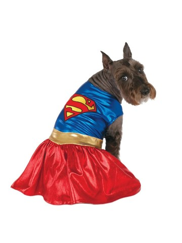 Pet Supergirl Superhero Costume