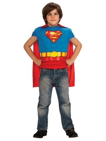Superman Kids Muscle Shirt Costume