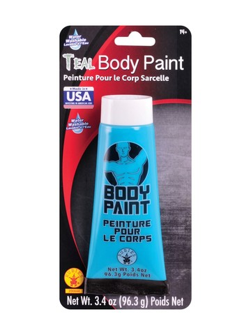 Teal Body Paint Make-Up