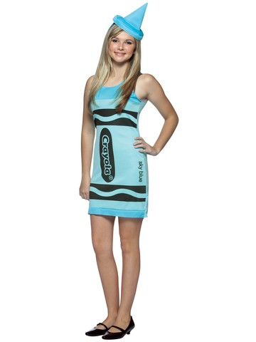 Teen Crayola Sky Blue Costume