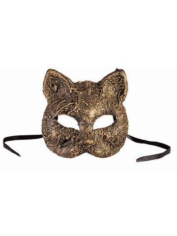 Gold Textured Cat Mask