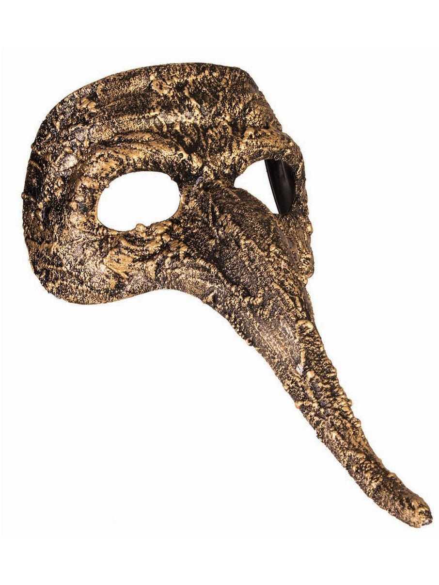 View larger image of Gold Mask with Long Nose