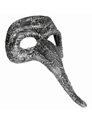 Silver Mask with Long Nose