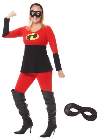 The Incredibles Adult Mrs. Incredible Tunic and Leggings Costume Kit