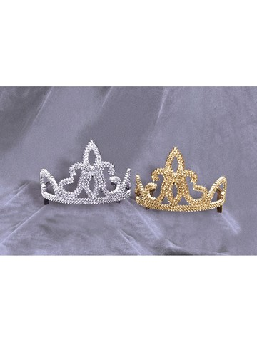 Tiara - Plastic With Combs Silver Accessory