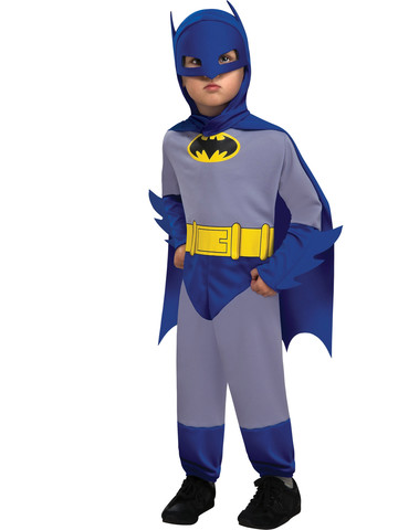 Toddler Blue and Gray Batman Costume
