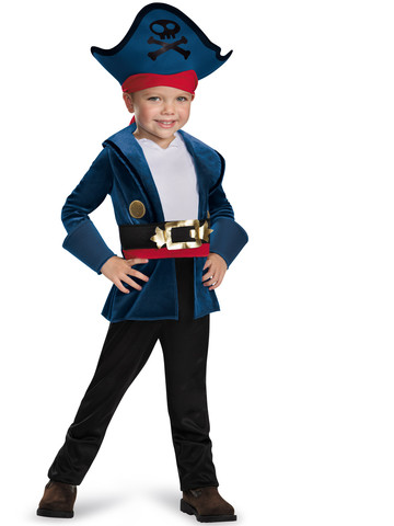 Toddler Jake And The Neverland Pirates Captain Jake Classic Costume