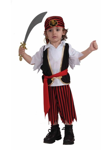 Lil' Pirate Boy Childrens Costume for Toddlers