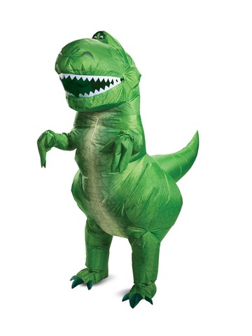 Inflatable Rex Toy Story Adult Costume