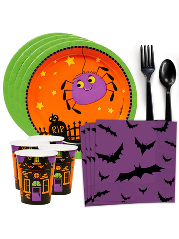 Trick or Treat Halloween Standard Tableware Kit (Serves 8)