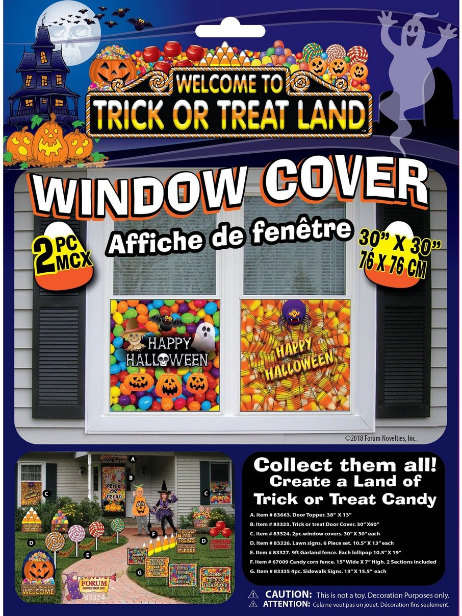 View larger image of Trick Or Treat Land Window Cover