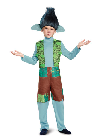 Kids Trolls - Branch Costume with Wig Deluxe