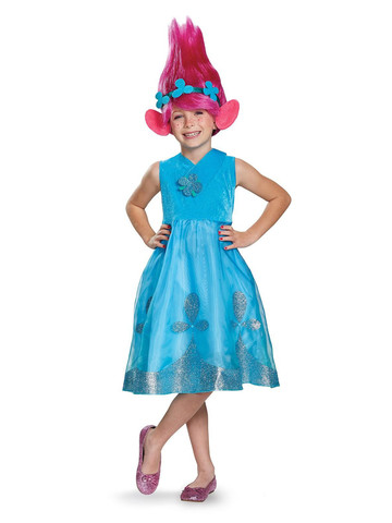 Trolls - Poppy Costume with Wig Deluxe
