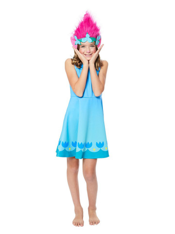 Trolls World Tour Child Poppy Dress Costume