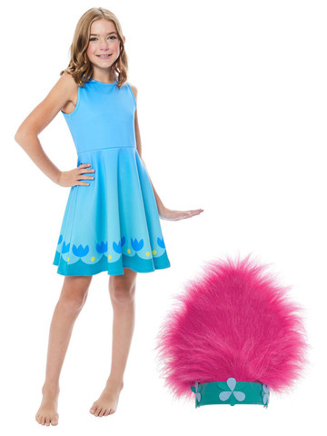 Trolls World Tour Child Poppy Dress Costume Kit