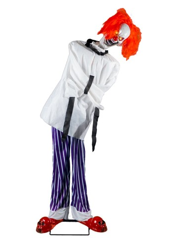 Twitching Straight Jacket Clown Animated Decoration
