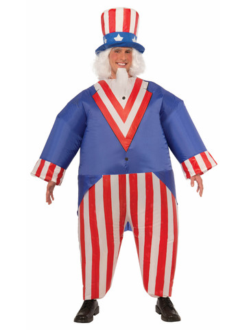 Uncle Sam Inflatable One-Size Costume for Adults