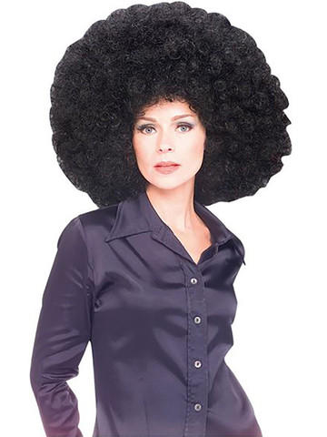 Super Sized Black Afro Wig