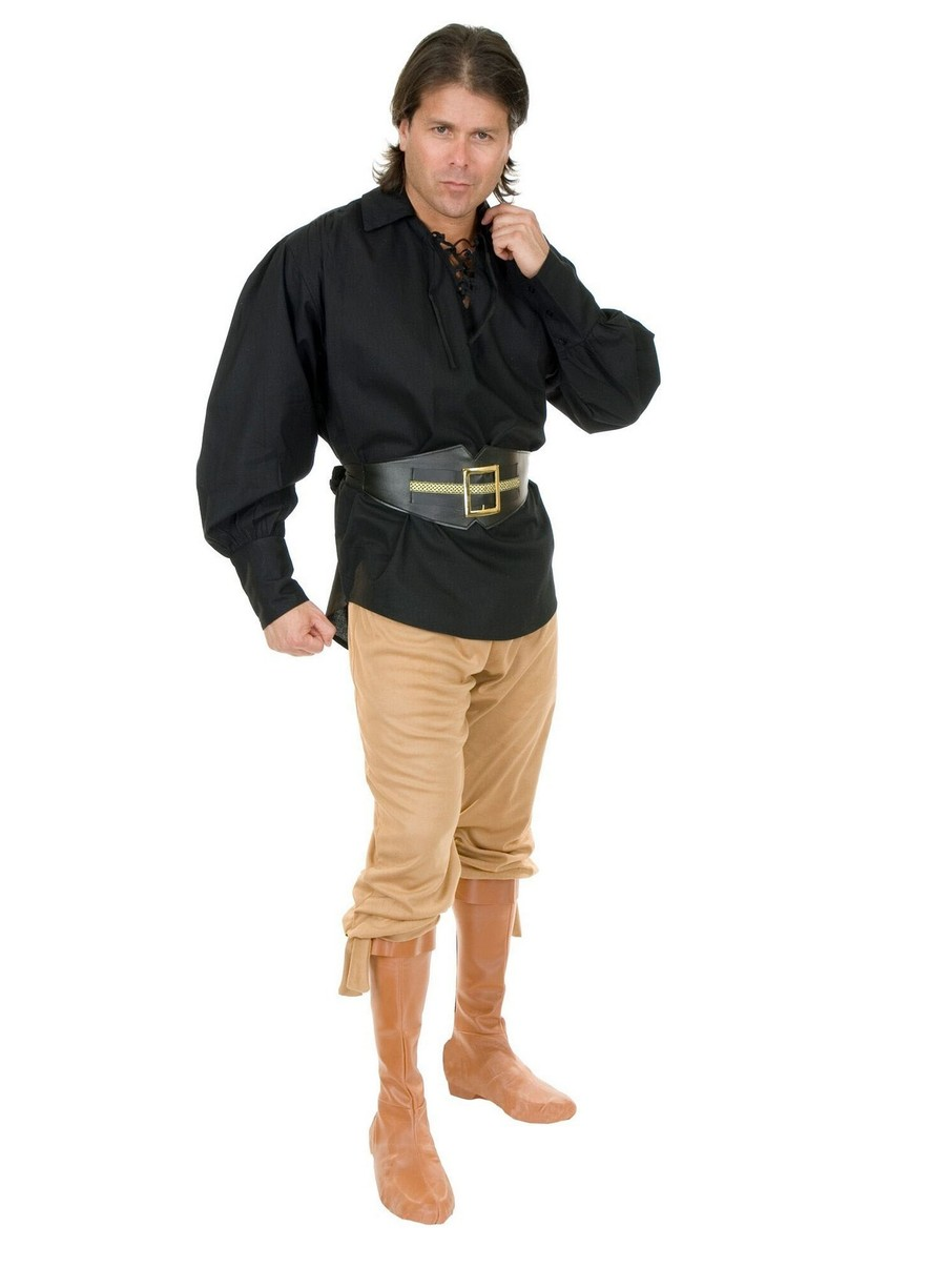 View larger image of Unisex Cotton Pirate Shirt for Adults