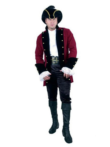 Velvet Pirate Prince Plus-Size Jacket for Men