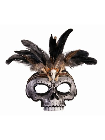 Mens Skull Voodoo Mask