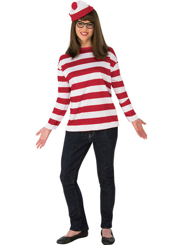 Curvy Where's Waldo Wenda Costume