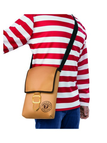 Brown Where's Waldo Messenger Bag