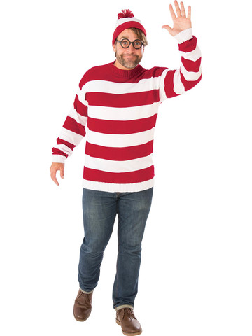Adult Plus Size Deluxe Where's Waldo Costume