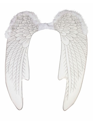 Adult White Angel Wings Large