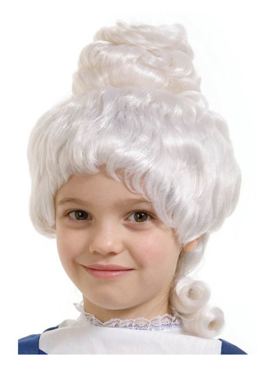 View larger image of White Colonial Girl Wig Child