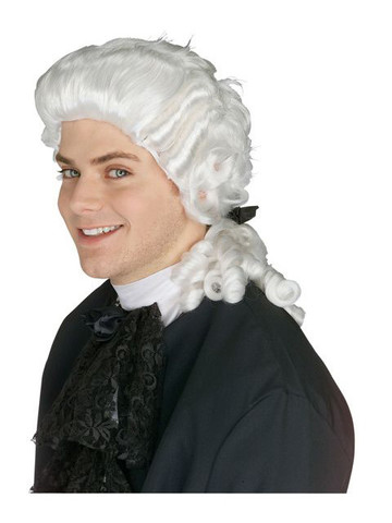 White Colonial Men's Wig
