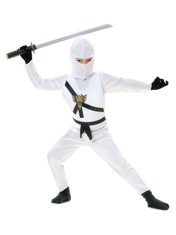 Child's White Ninja Avenger Costume - Series 1