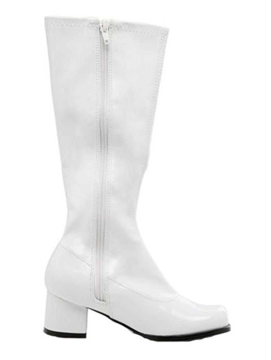 View larger image of White Patent Gogo Boot Child