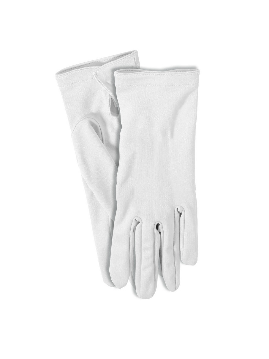 View larger image of White Short Gloves